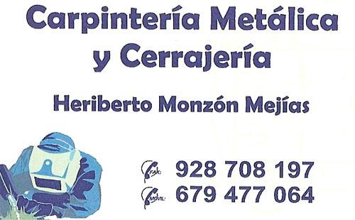 Cerrajería y Carpintería Metálica Heriberto Monzón Mejías